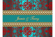 Red Teal and Gold theme