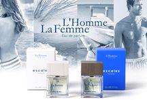 Fragrances LA FEMME & L'HOMME / Escales entreouvre la porte de son monde fascinant et dévoile son premier parfum pour L´Homme et La Femme. Deux compositions d´exception créees dans la plus pure tradition des grands parfumeurs. Deux expériences olfactives et émotionnelles uniques.  Un art de vivre...