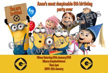 Kids Birthday Invitations / A wide range of invitations focusing on Kids
