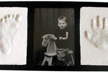 Handprint & Footprint Air Drying Clay Kits / Air drying clay keepsake photo frames and ornament kits.