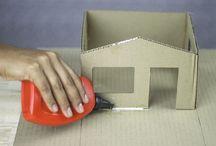 karton huis skool projek