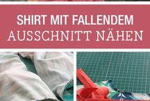 shirt mit fallenden ausschnitt