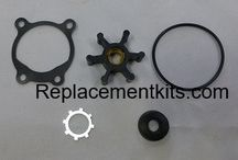 Utility Pump kits / Our aftermarket Universal Utility Pump Repair Kit includes: 2 Flex Vane Impellers (Standard on most 1/12 HP115V utility pump housings) 2 U-Cup Seals, 2 O-Rings 2 Gaskets (Used on Some Models),  2 Retaining Rings (Used on Some Models)     Impeller is made from XNBR (Carboxylated Nitrile (Buna-N rubber))  this material is better for overall wear and abrasion resistance.   Impeller insert is made from solid brass stock for corrosion resistance and strength, not sintered metal.