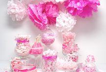 Poppin' Pink Candy Buffet