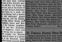 Oregon Family Newspaper Clippings / Newspapers are a great way to learn about the life and personalities of our forefathers. Here are a collection of newspaper clippings on the  Bursik, Fridrich, Seehafer, Dobrkovsky, etc.