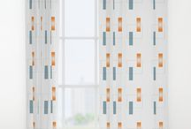 "Window Curtains / 50"" x 84"" single-sided print available in single or double panel options"