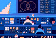 Robin Davey - This London GIF artist creates animations that have a futuristic vibe despite influences from middle-century graphic art. / This London GIF artist creates animations that have a futuristic vibe despite influences from middle-century graphic art.