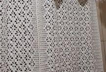 cortina em crochê