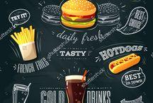 placas hamburgueria