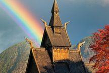 ノルウェイ建築物etc / ノルウェイのスターヴ教会を主として、隔世感ある建築物を自分資料用に掻き集めたものです