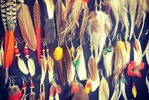 Bijoux plumes / Boucles d'oreilles