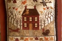 Huisjes borduren