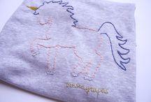 Sudaderas bordadas Iresingrapas / #sudaderabordada #handembroidery #embroidery #bordado #bordadoamano #unicorniobordado #ciervobordado #bicibordada #globobordado