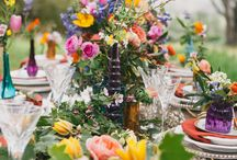 Colourful wedding decor