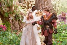 "Wedding Ideas / My dream wedding would be ""Lord of the Rings"" meets ""A Midsummer Night's Dream"". The ""Faerie Queen"" marries the ""King Under the Mountain"" at a Renaissance Faire... Preferred colors: purple, copper, and sage green."