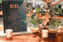 Teal, Navy + Copper Wedding / Surrounded by cascading fairylights this Copper, Navy and Teal palette created the perfect setting for this event. From custom elements including self standing drink menus, welcome signage and high bar art work. Stunning florals arranged in copper geo vase complimenting the overall event colour palette. A mix of matte navy and rose gold sequin linen adorned the tables, with candlelight adding that extra illuminate touch.Youtube: https://www.youtube.com/watch?v=hmLfUhZHAMs&feature=youtu.be