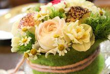 Tischdeko / Blumige Tischdekoration zu verschiedenen Anlässen.  Ob Taufe, Konfirmation, Kommunion, Geburtstag, Brunch, Sonntagskaffee, ... - wir verzaubern jede Tafel!
