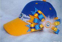 Hats / Gorras decoradas para niñas