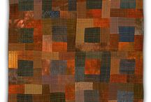 Browns and all their cousins. / Brown is only incidentally a neutral; it skews red and green, goes to tan, greige, khaki, and blends into grey.  This is a study board for using the color brown in textile art.  See the results of these studies in textiles at http://rugsfromrags.com/rugs/rugs-by-type/brown-rugs/.   / by Karen Tiede Art Rugs