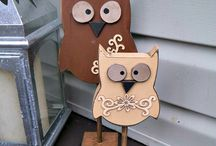 Owls (wooden)