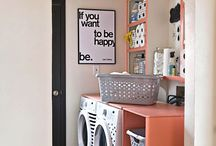 Lavanderias lindas e organizadas/ laundry / Ideias para decorar e organizar lavanderias