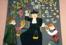 Bannières st-Yves / Bannières de saint Yves utilisées dans les pardons, les paroisses...