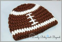 Crocheted football hats