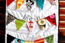 #springminiswap inspiration / Just some inspiration for my #springminiswap partner. I love bright, modern fabrics...especially polka dots, stripes, chevrons and text fabric.