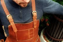 Aprons leather / Aprons made of leather or can be remade ind leather.