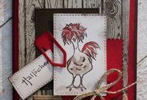 Kaart met kippen