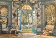 wall painting of interiors