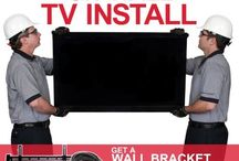 On-Wall TV Install - Includes Wall Mount Bracket and HDMI Cable (For TVs 41-inches and Larger) by Dish