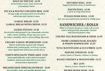 The Woodman inn Menu's / A 'Lunchtime and Light Bites Menu' - served from 12.00 until 6.00pm, Mon-Sat.  A 'Woodman Evening Menu – served from 6.30pm to 9.30pm Mon-Sat, 6.30pm-9.00pm Sun.  A 'Woodman Sunday Lunch & Afternoon Menu – served from 12.00pm-6.00pm.
