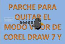 PARCHE PARA COREL DRAW X7 Y EVITAR EL MODO VISOR