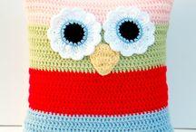 Knitting and crochet home decor