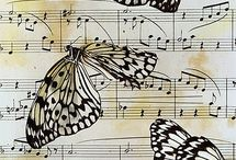 Thinking of Leah / These are all things that make me think of my sister... Music and butterflies! Gift ideas.