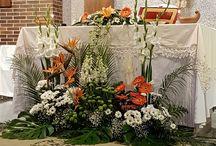dekoracje oltarza