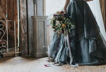 Dreamy Vintage Farmhouse with Moody Blue Gown