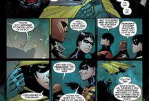 Superhero and villan