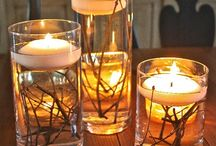Floating candles decotations