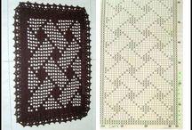 Tapete retangular em crochet