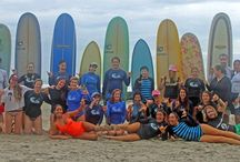 "The Pura Vida Family / We're pretty stoked about the fact that our students don't just come to surf camp...they often become family. Here's the page for all the ""super alumni"" who come back again and again to hang out in their home-away-from-home with us in Malpais, Costa Rica!"