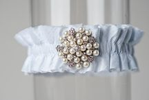 The Pierce Blue Wedding Garter + Things to Match / This is one of the most popular of all the La Gartier Wedding Garters. Behold the Pierce garter. For all of you brides that want a gorgeous something blue hidden just underneath the skirt of your gown. / by La Gartier Wedding Garters