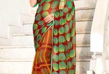 Georgette Sari en ligne / http://www.andaazfashion.fr/womens/sarees/fabric/georgette-saree