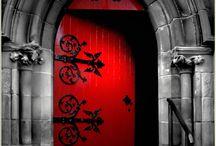 Large Red Door