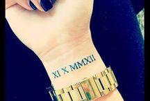 Tattoo roman number
