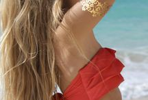 Onyx Myth Temporary Metallic Tattoos / Metallic jewellery inspired tattoos in black and gold