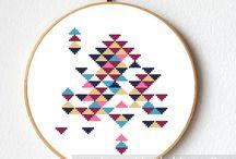cross stitch geometric