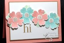 SU Flower Shop / Cards and crafts made with the Stampin' Up! Flower Shop stamp set and the Pansy Punch. #stampin up #su #cardmaking