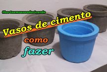 Como fazer vasos pequenos de cimento